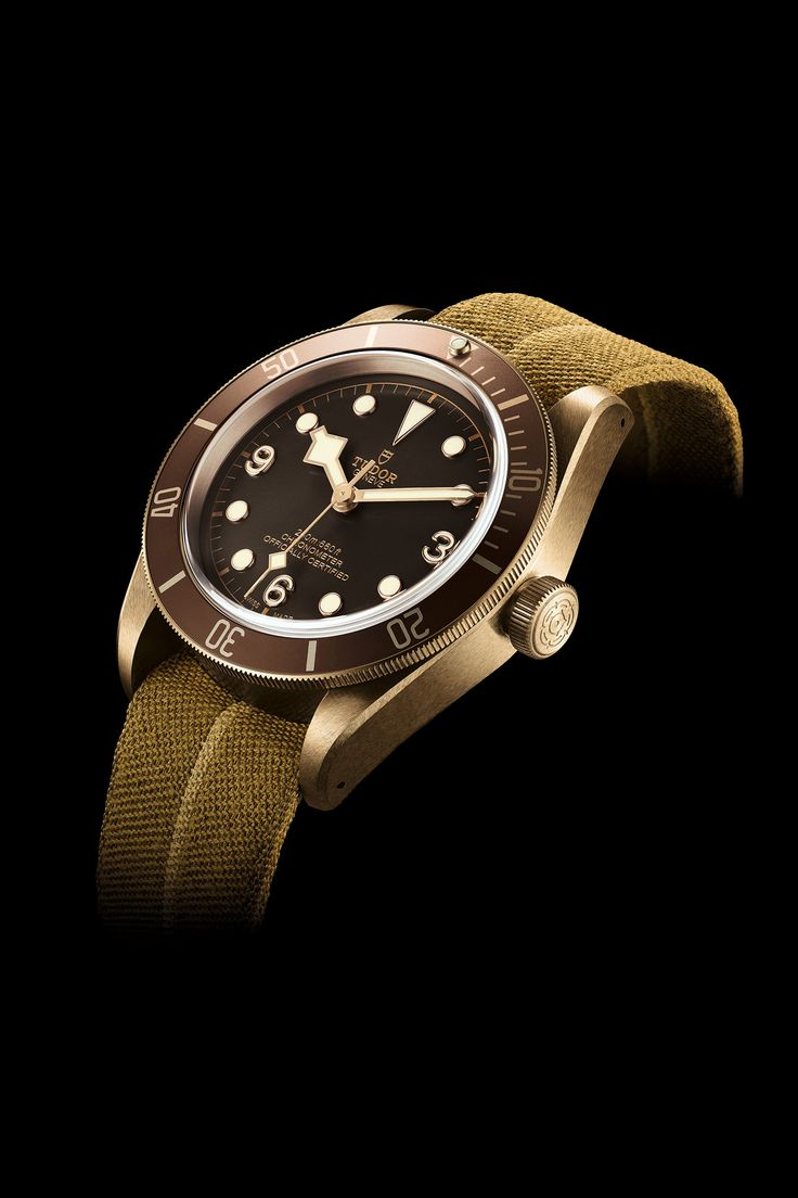 Introducing the new TUDOR Heritage Black Bay Bronze! 43 mm divers' watch inspired by the brand's history and fitted with a mechanical movement developed and produced in-house by TUDORwatch. #TUDORwatch #BlackBay #Baselworld2016