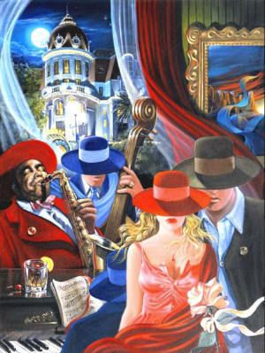Artify Collections - Hand Painted High City Life Oil Painting Number 040, $73.71 (http://artifycollections.com/hand-painted-high-city-life-oil-painting-number-040/)