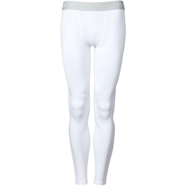 Reebok Men's Compression Tights, Size: Medium, Pure White/Highrise