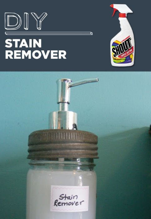 DIY Stain Remover  1 tsp Dawn Dish Soap,   2 tbs baking soda,    3 tbs hydrogen peroxide in a spray bottle (or pump) Mix and scrub! Then wash, and ta-da you have a brand new looking shirt!