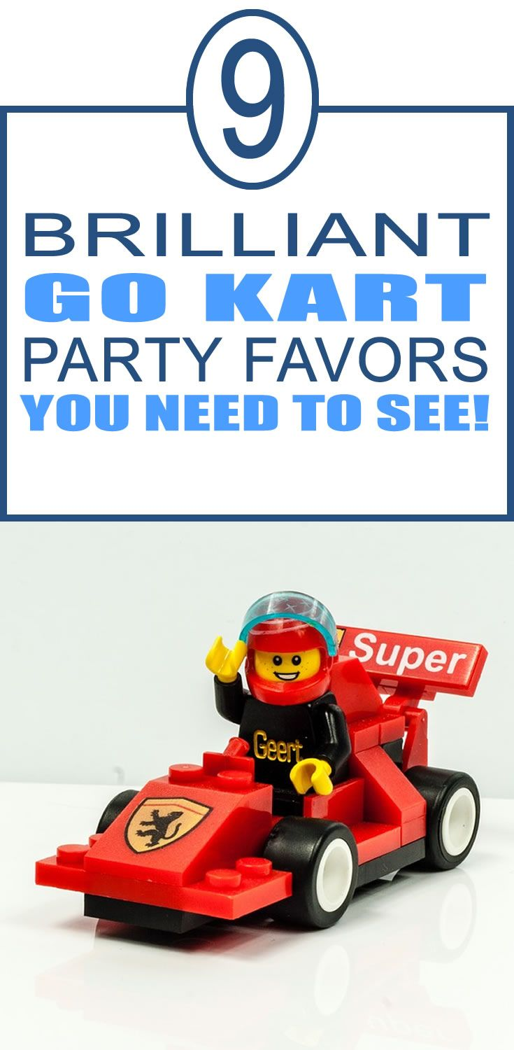 9 Cool Go Kart party favor ideas for your kids birthday party. Fun kids party favor ideas to try.
