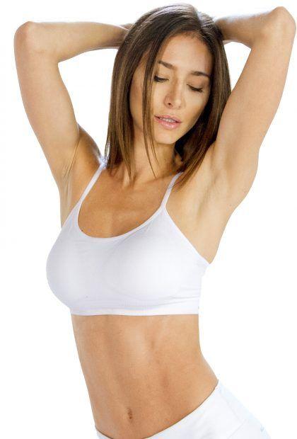 White Sleek #Sports #Bra for Women