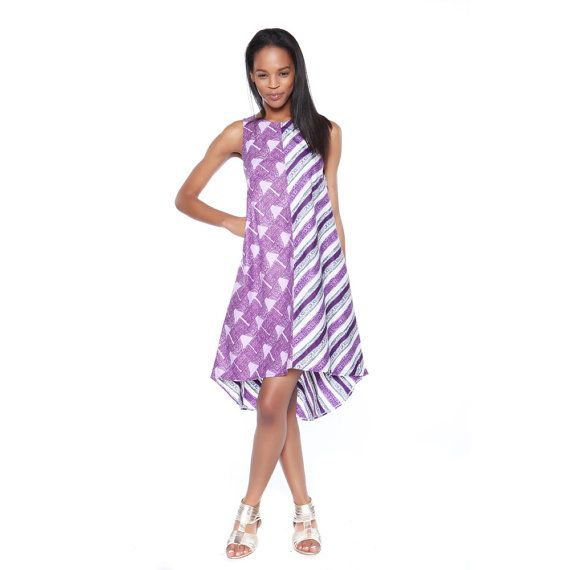 Ankara Print Dress Summer Frock Short Dress by MyAshoMarket