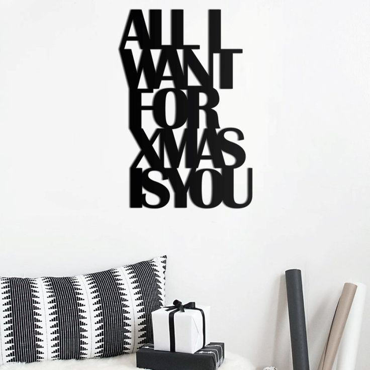 Napis w czarnym kolorze do przyklejenia ALL I WANT FOR XMAS - NieMaJakwDomu