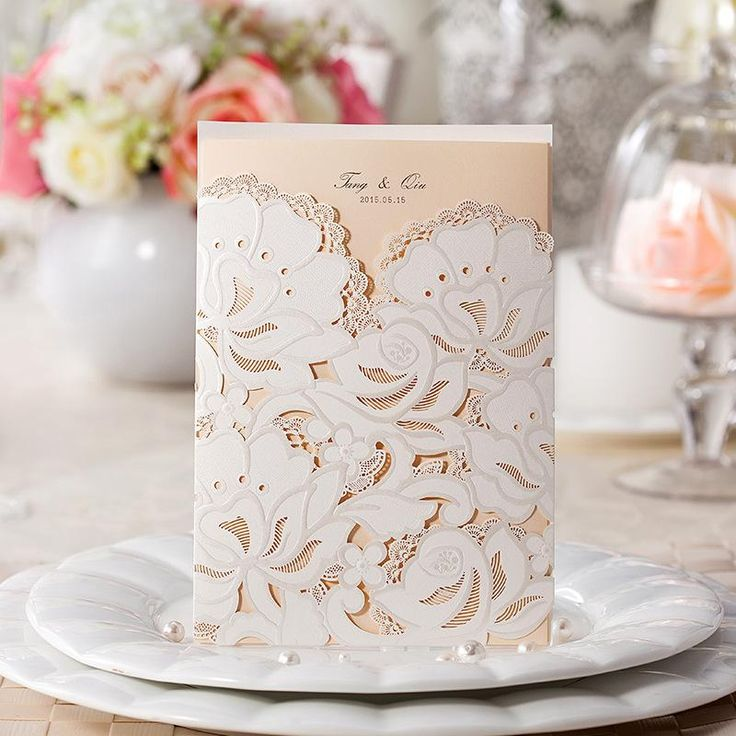 watch wedding invitation movie online eng sub%0A New Wedding Invitation Cards Lace Flowers Wedding Invitation Favors Free  Printable Cards White Laser Cut Hollow