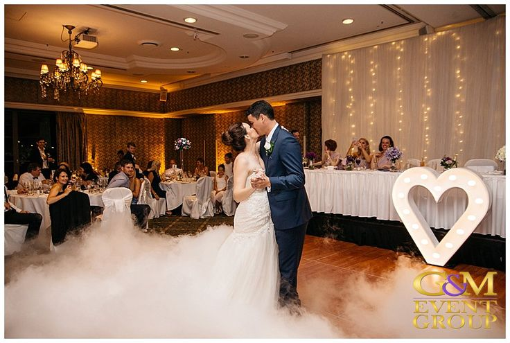 Stamford Plaza Katie&Cameron - Dancing on a Cloud Heart Light & Fairy Lights #GMEventGroup #WeddingLighting #BrisbaneWedding