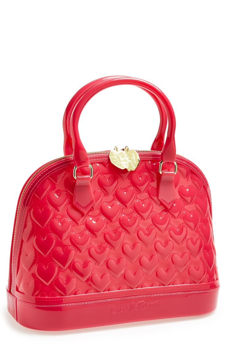 Leather quilted handbags and purses - Betsey Johnson Patent Heart Bag Got It Call It My Rain Bag