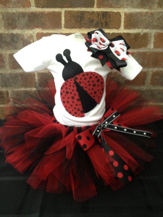 Ladybug Tutu Set  Ladybug Costume  Size 6M by LalaBirdBoutique, $30.00