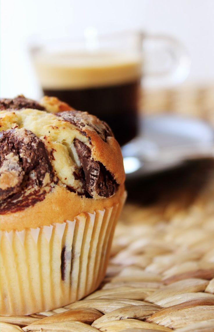 J 'avais une envie d'ENORMES Muffins comme ceux que l'on trouve dans les enseignes type Starbucks, Bagelstein !!!  J'ai enfin trouvé une...