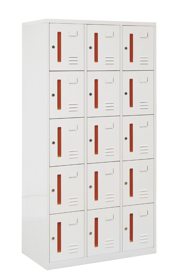 Hot Item Supermarket Use Room Furniture 15 Door Metal Locker In 2020 Metal Lockers Steel Locker Room Furniture