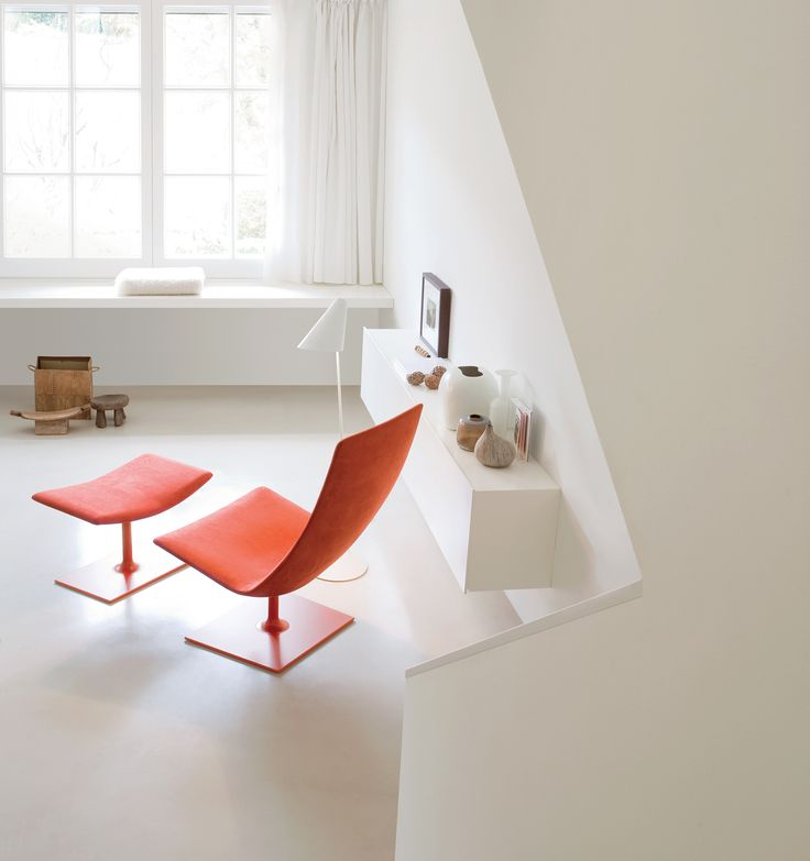 White light and warm colours.  Catifa 70 Lounge Private residence in Barcellona, Spain Architect: Lievore & Beltran. Photo: Joan C. Ponsa #arper