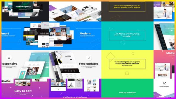 Creative Agency // Website Presentation (Websites) #Envato #Videohive #aftereffects