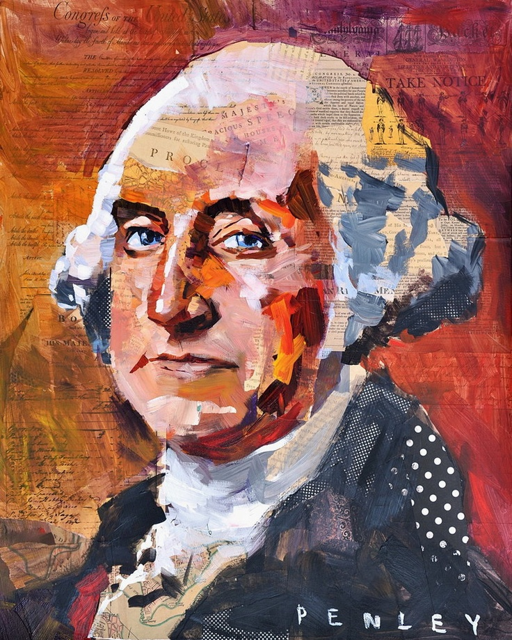 Washington Collage    Original Giclee with hand embellishment by Steve Penley