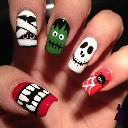 Diseños de uñas para halloween varios