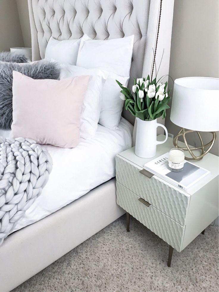 Tiffany Jais Houston fashion and style blogger of Flaunt and Center | Home decor, chunky knit blanket, Scandinavian interiors, scandinavian decor, modern home