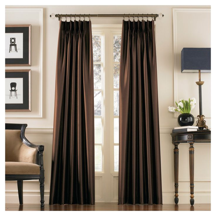 Curtainworks Marquee Lined Curtain Panel - Chestnut (Brown) (108)