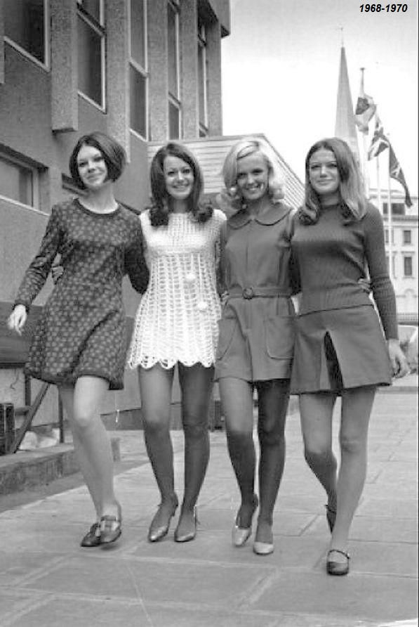 The 1960's witnessed the growth of the mini skirt. The mini skirt is widely associated with Mary Quant, who had a boutique, Bazaar, in Kings Road in Chelsea, Which is still currently being worn today.