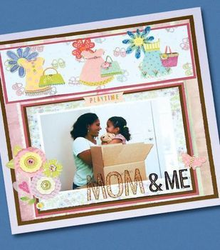 Mom & Me Scrapbook Page
