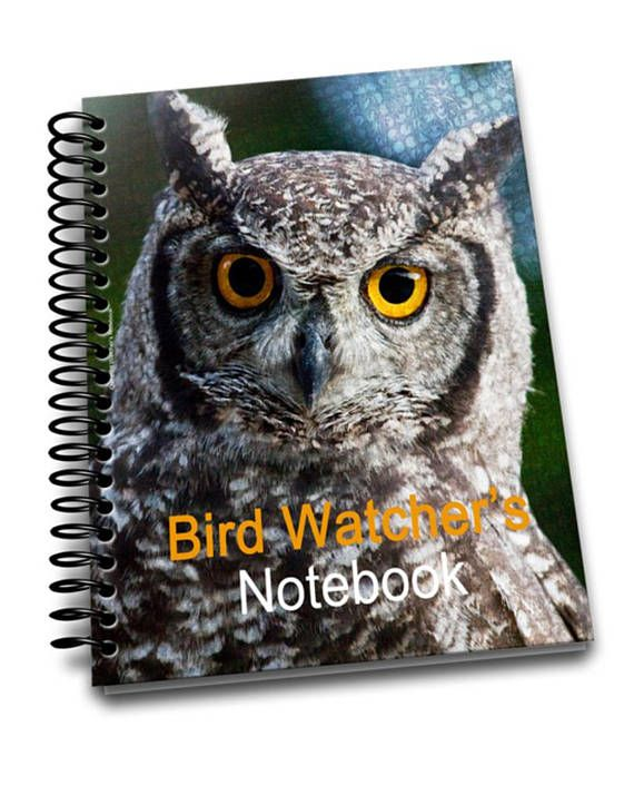 Owl Bird Watcher's Notebook   8 x 10  Spiral Bound