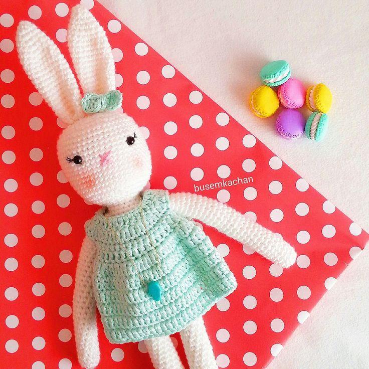 Amigurumi Crochet Doll Rabbit Girl by busem on Etsy