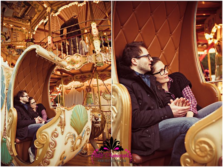 Love this one of them cuddling on the carousel