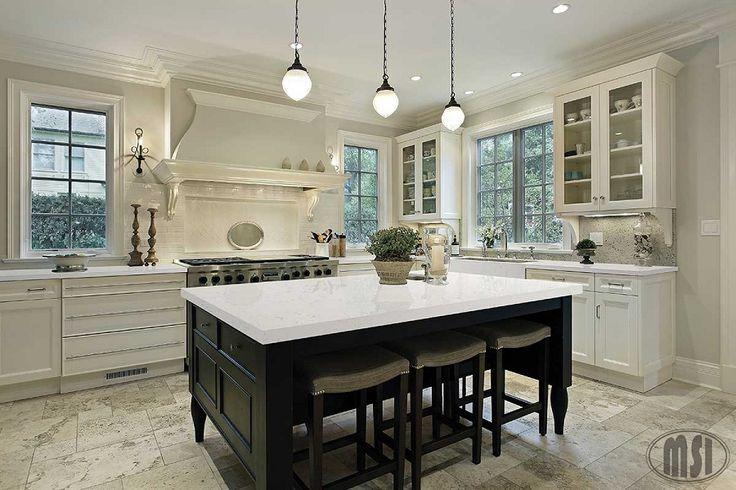 Cashmere Carrara Quartz Kitchen Island Pinterest