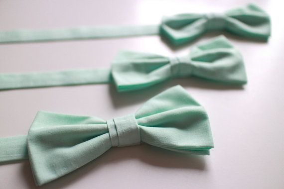 Mint Bow tie for Men by everDapper on Etsy