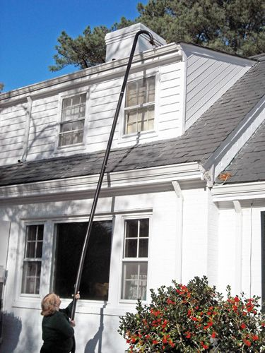 a DIY Gutter Cleaning Tool - Gutter Clutter Buster and Extensions