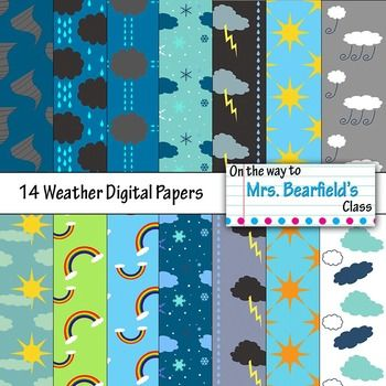 Morning Weather Digital Papers