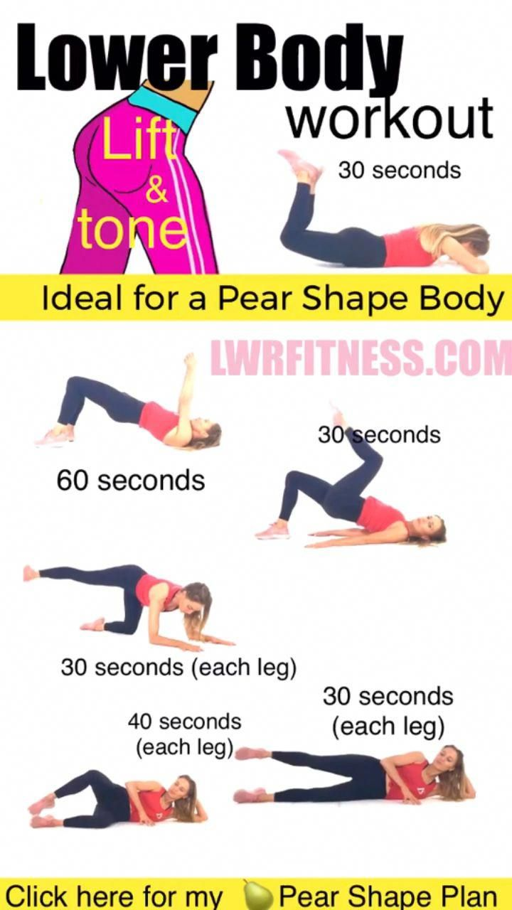 Lower Body Workout At Home Ideal For Pear Shape Body In 2020 Lower Body Workout Fitness Body Body Workout At Home