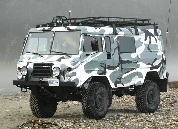 Sweden goes all Pinzgauer for a fraction of the price.  Volvo C303.   For the modern suburban family. Want this, it matches my Rucksack