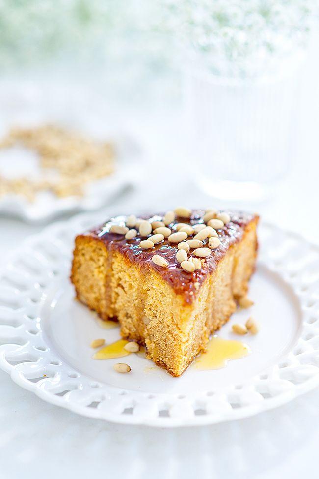 Sweet, sticky & heavenly: Greek honey and pine nut cake | supergolden bakes