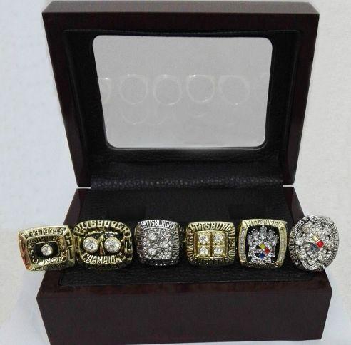 Pittsburgh Steelers Super Bowl Rings 1974, 1975, 1978, 1979, 2005, 2008