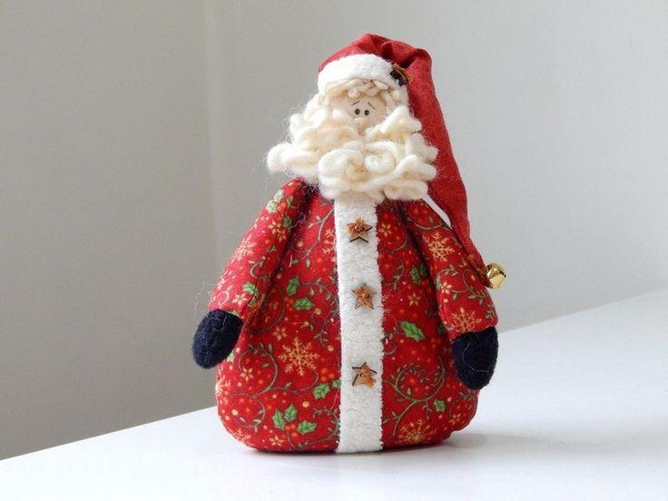 Linda boneca Santa Baby em patchwork da Amellie