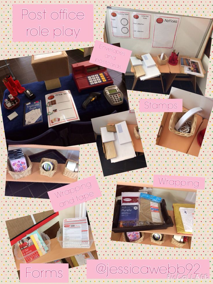 Post office role play area. EYFS