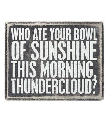 'Bowl of Sunshine' Box Sign #zulily #zulilyfinds