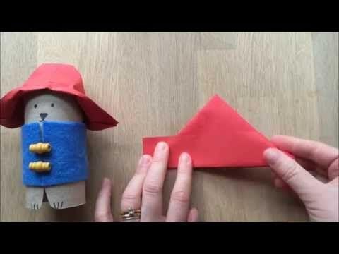 to go with new movie Paddington Bear Craft Turn a TP Roll into an adorable Bear - YouTube
