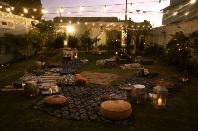 Moroccan themed backyard party