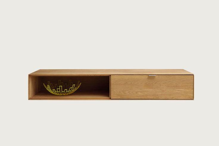 Tv-Unterteil Hängeschrank Wildeiche Massiv Natur Geölt Woody 141 - hängeschrank wohnzimmer weiß