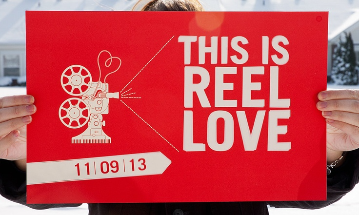 This is Reel Love - Movie Themed Wedding Poster-like the vintage.