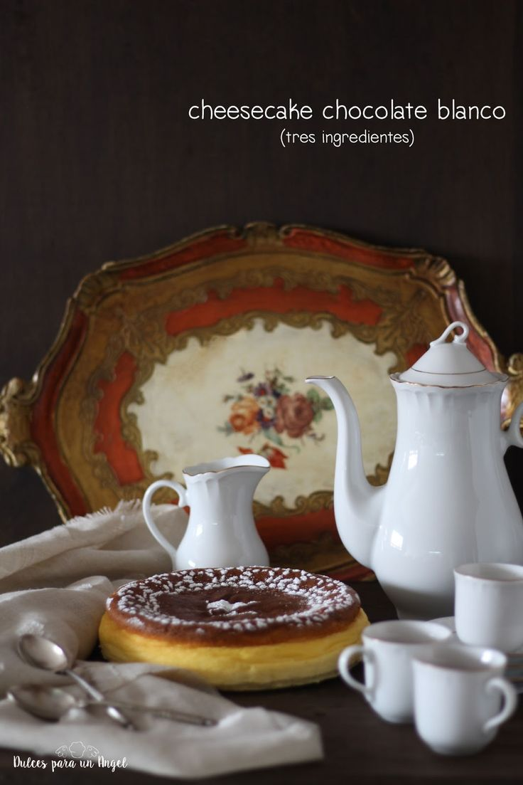 Dulces para un Angel: Cheesecake chocolate blanco (tres ingredientes)