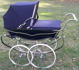 1950 infant items | ... Vintage Silver Cross pram baby stroller carriage from England 1950's