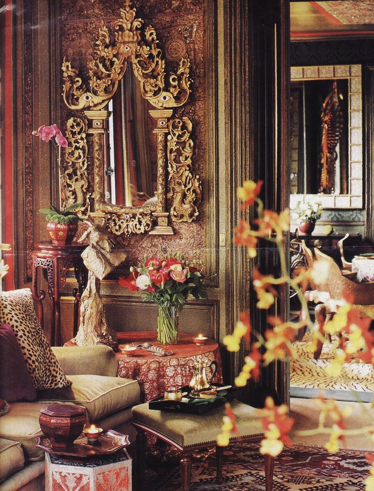 Chintz of Darkness: Frame Up  (a room designed by the fabulous Tony Duquette!  ~Splendor)