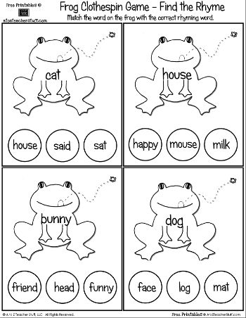 Printables Free Rhyming Worksheets 1000 images about rhyming fun on pinterest pocket charts word rhyming