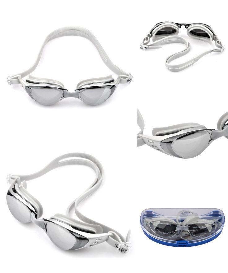 [Visit to Buy] Professional  Swimming Glasses Anti-fog Adjustable Adult Non-Fogging Anti UV Swimming Goggles Box Packaging #Advertisement