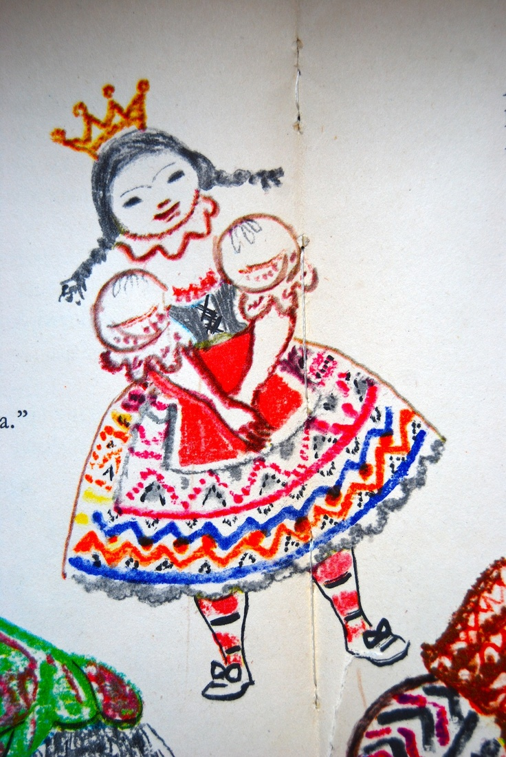 Little hungarian princess!! From an old story book.