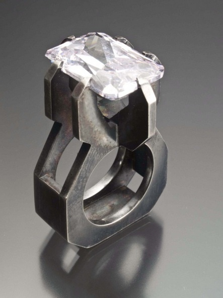Ring |  Maricha Genovese.  Cubic zirconia, sterling silver