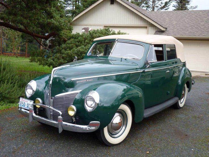 De 3030 b sta classic cars bilderna p pinterest for 1940 mercury 4 door convertible