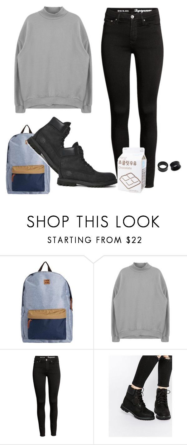 """i milly rock on any block"" by shame ❤ liked on Polyvore featuring Billabong, Timberland and NOVICA"