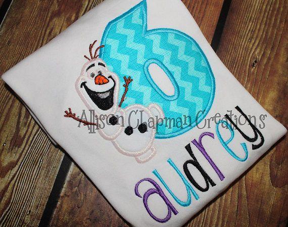 Frozen Snowman Birthday shirt by AChapmanCreations on Etsy, $23.00